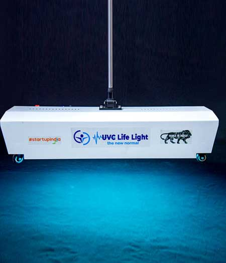 UVC floor-sterilizer